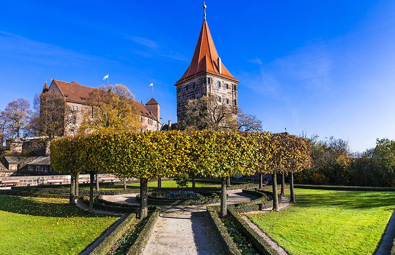 Revier Nürnberg Burg Garten
